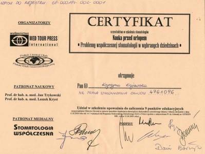 kardent certyfikat 20