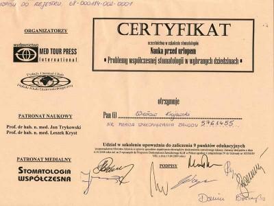 kardent certyfikat 21