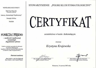 kardent certyfikat 41