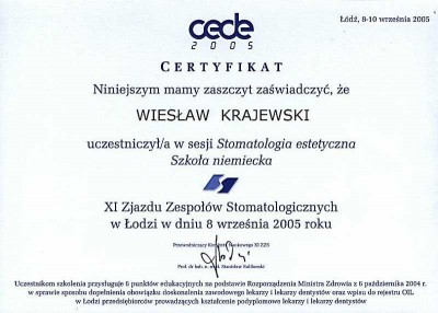 kardent certyfikat 52