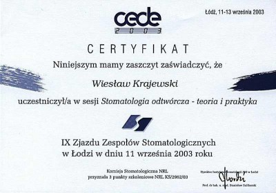 kardent certyfikat 53